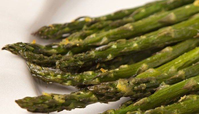 Salt Roasted Asparagus and Lemon Zest