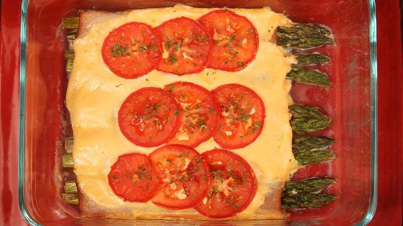 Gluten-Free Asparagus and Turkey Roll Up Casserole Recipe