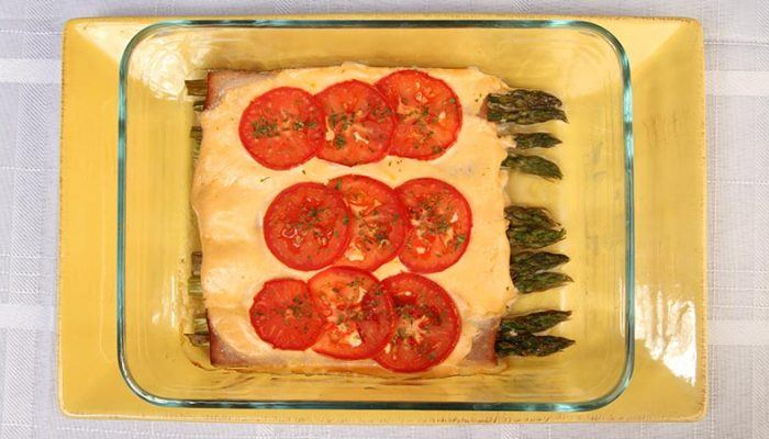 Gluten-Free Asparagus and Turkey Roll Up Casserole Recipe