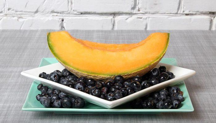 Gluten-Free Cantaloupe Boats With Blueberries Recipe