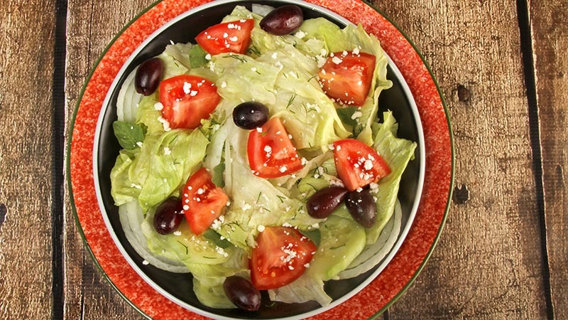 Gluten-Free Basic Green Salad Variations With Dill & Oregano Recipe